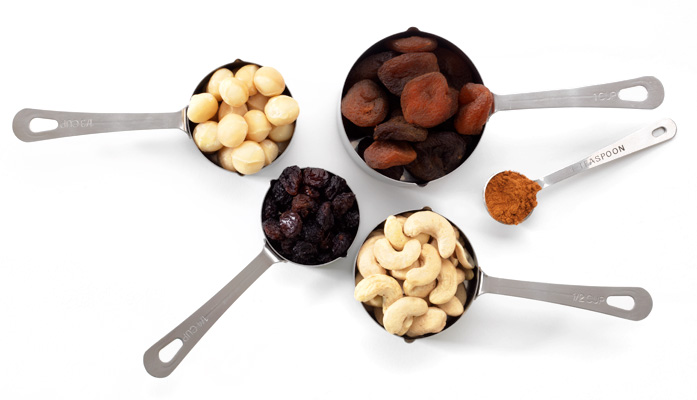 picture of measuring spoons full of ingredients