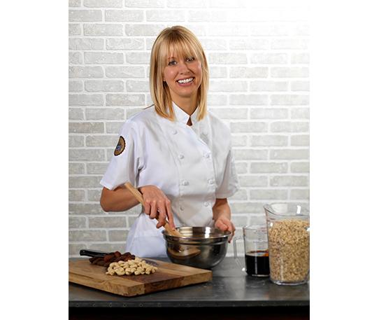 Erika in the test kitchen