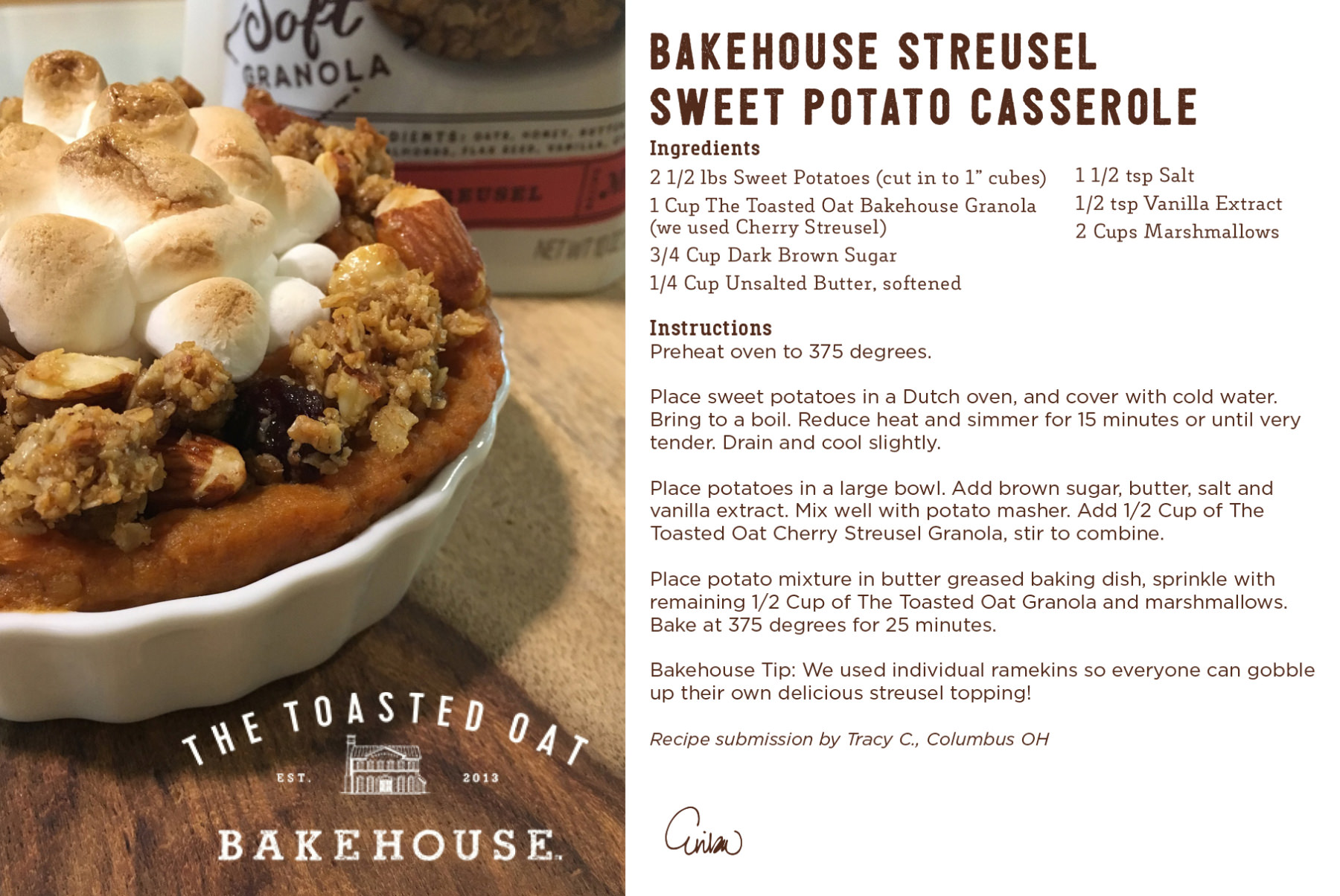 Bakehouse Streusel Sweet Potato Casserole