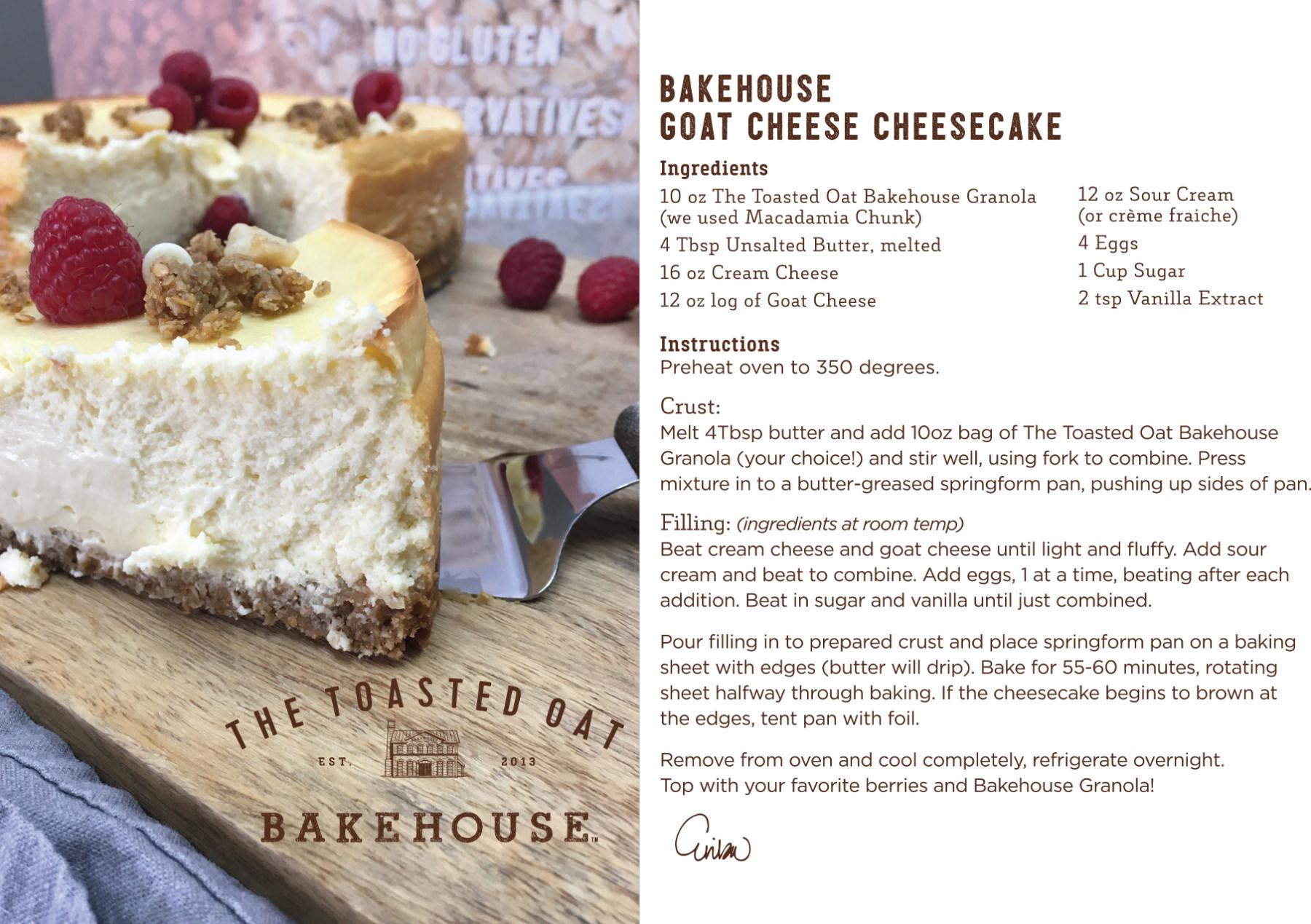Bakehouse Goat Cheese Cheesecake