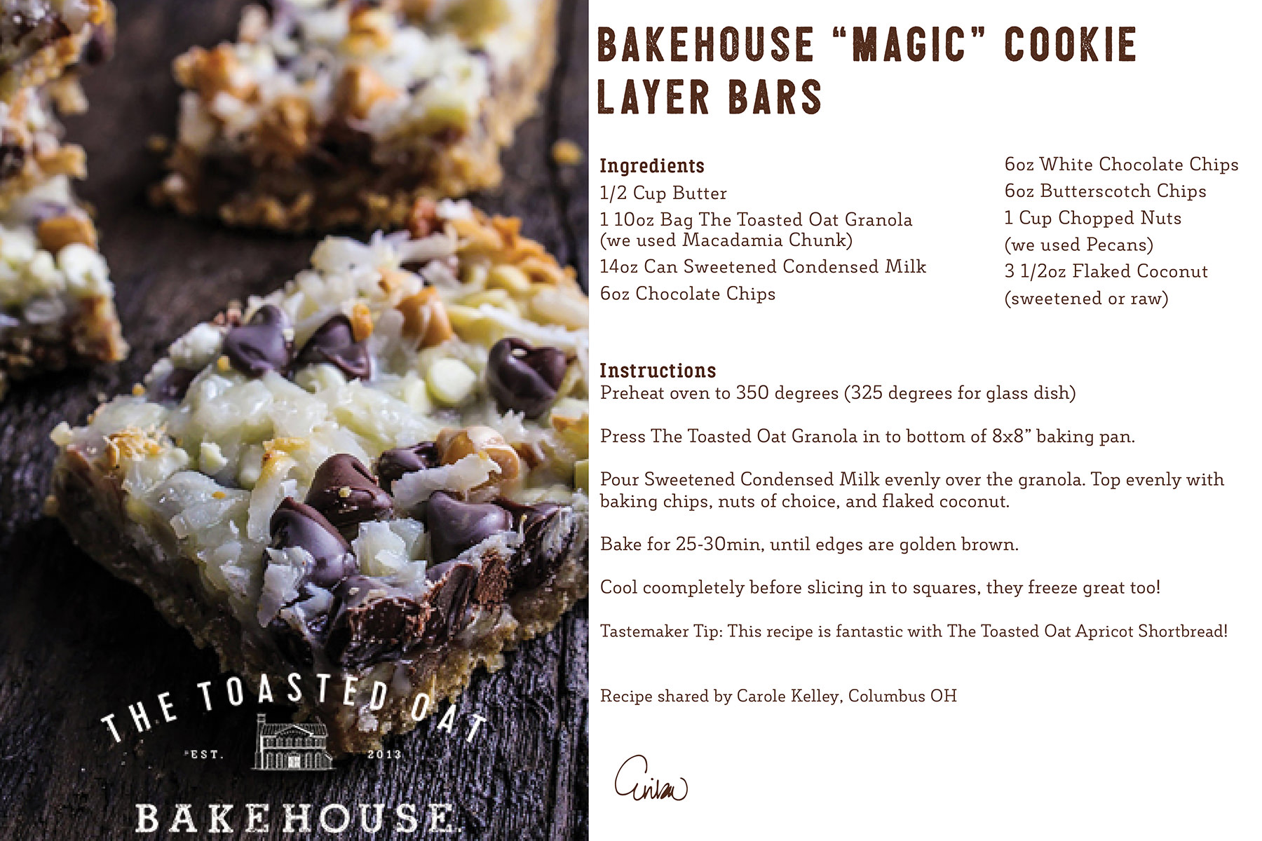 "Bakehouse ""Magic"" Cookie Layer Bars"