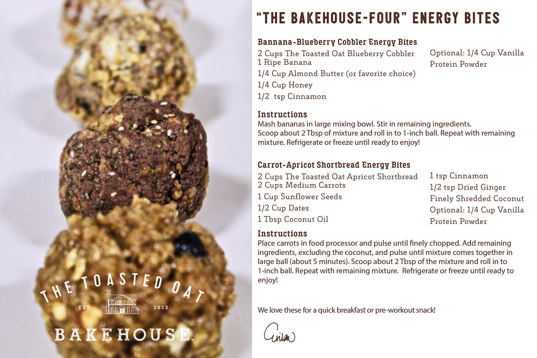 "The ""Bakehouse-Four"" Energy Bites"
