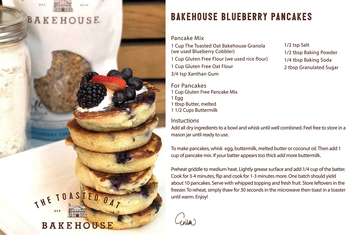 Bakehouse Blueberry Pancakes
