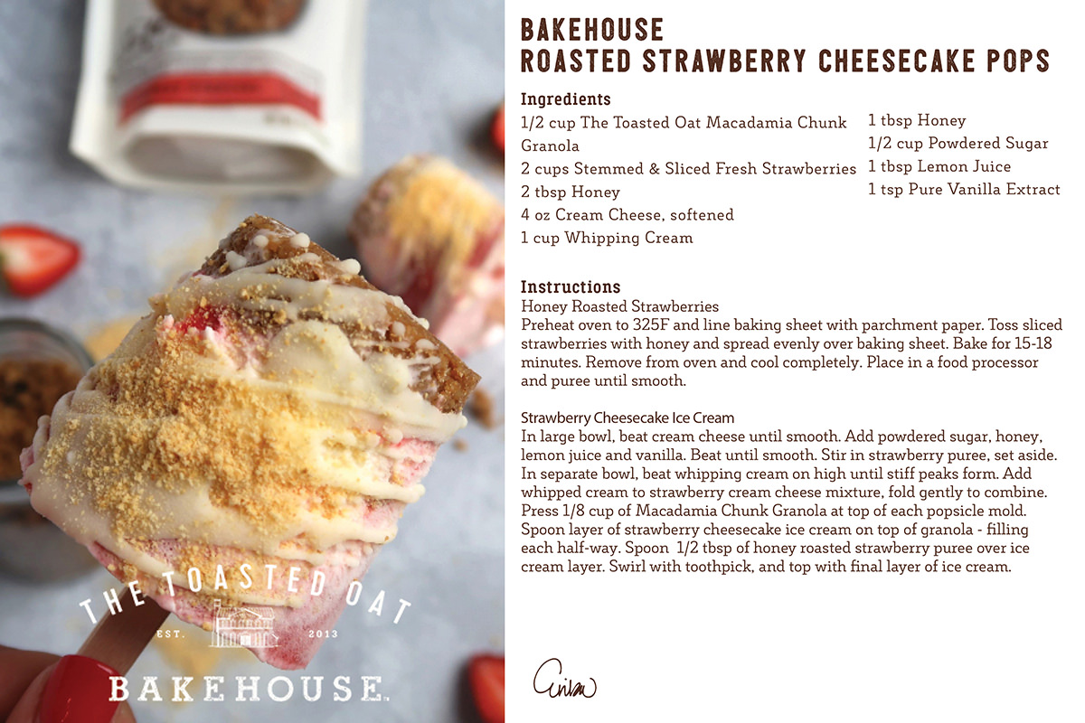 Bakehouse Strawberry Cheesecake Pops