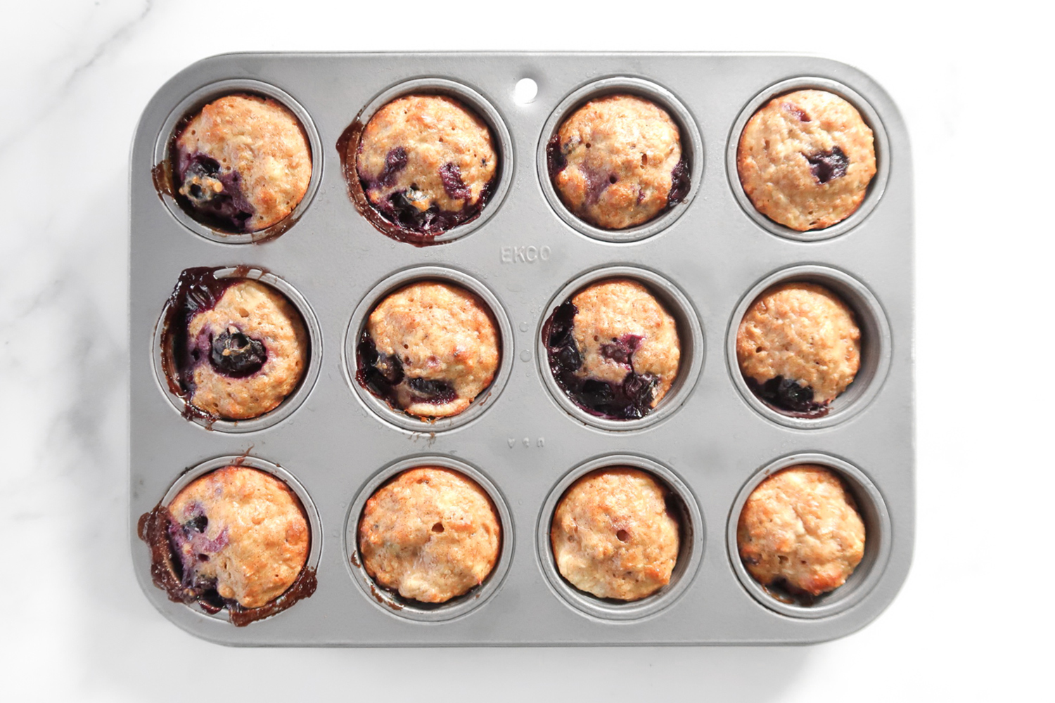blueberry-banana-protein-muffins